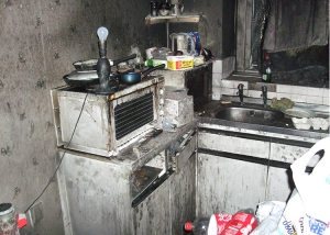 dirty kitchen