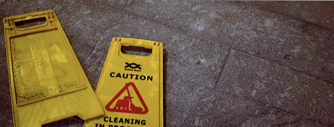 Professional service cleaning sign